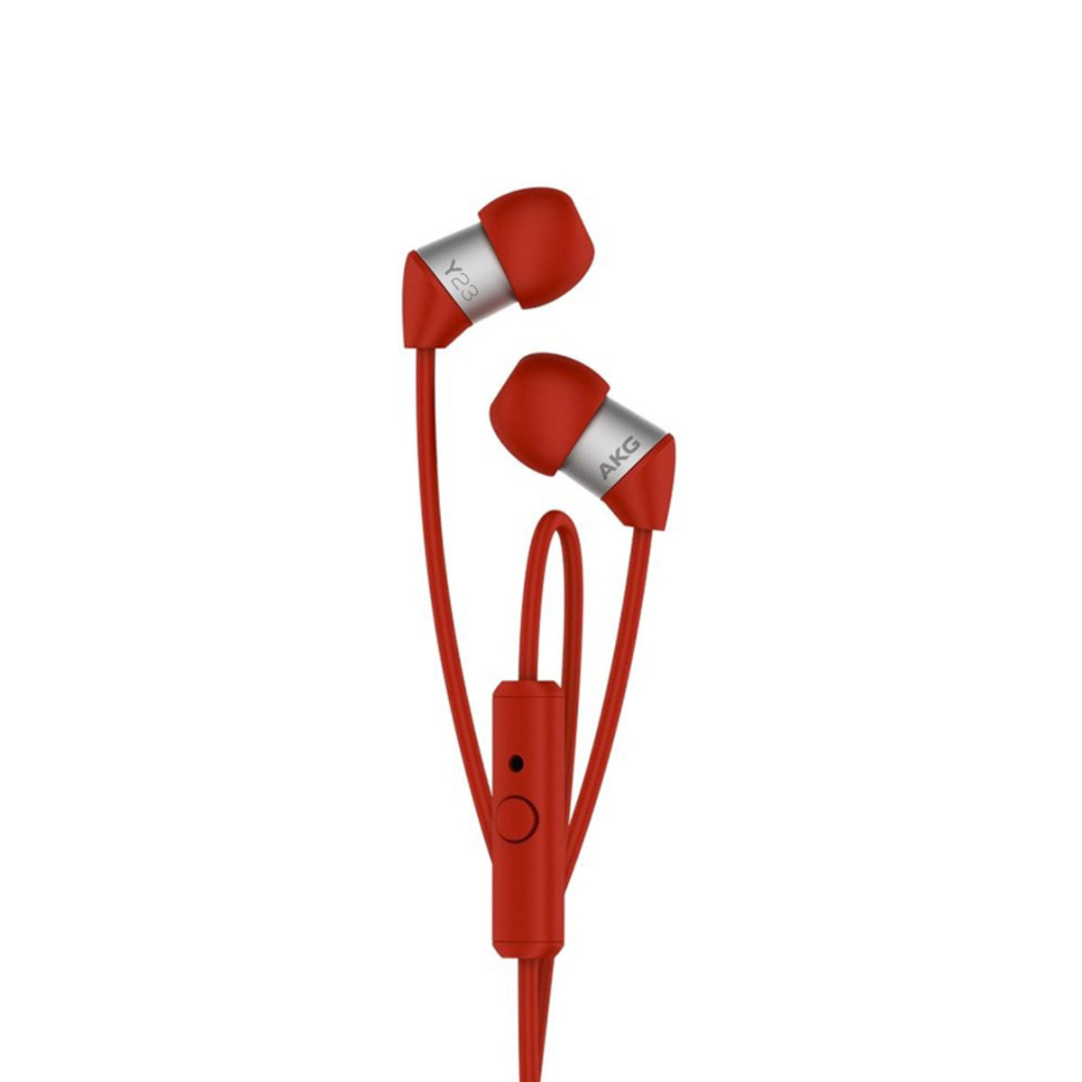 AKG Y23U In ear Headphone with in-line universal remote / mic for Android Red