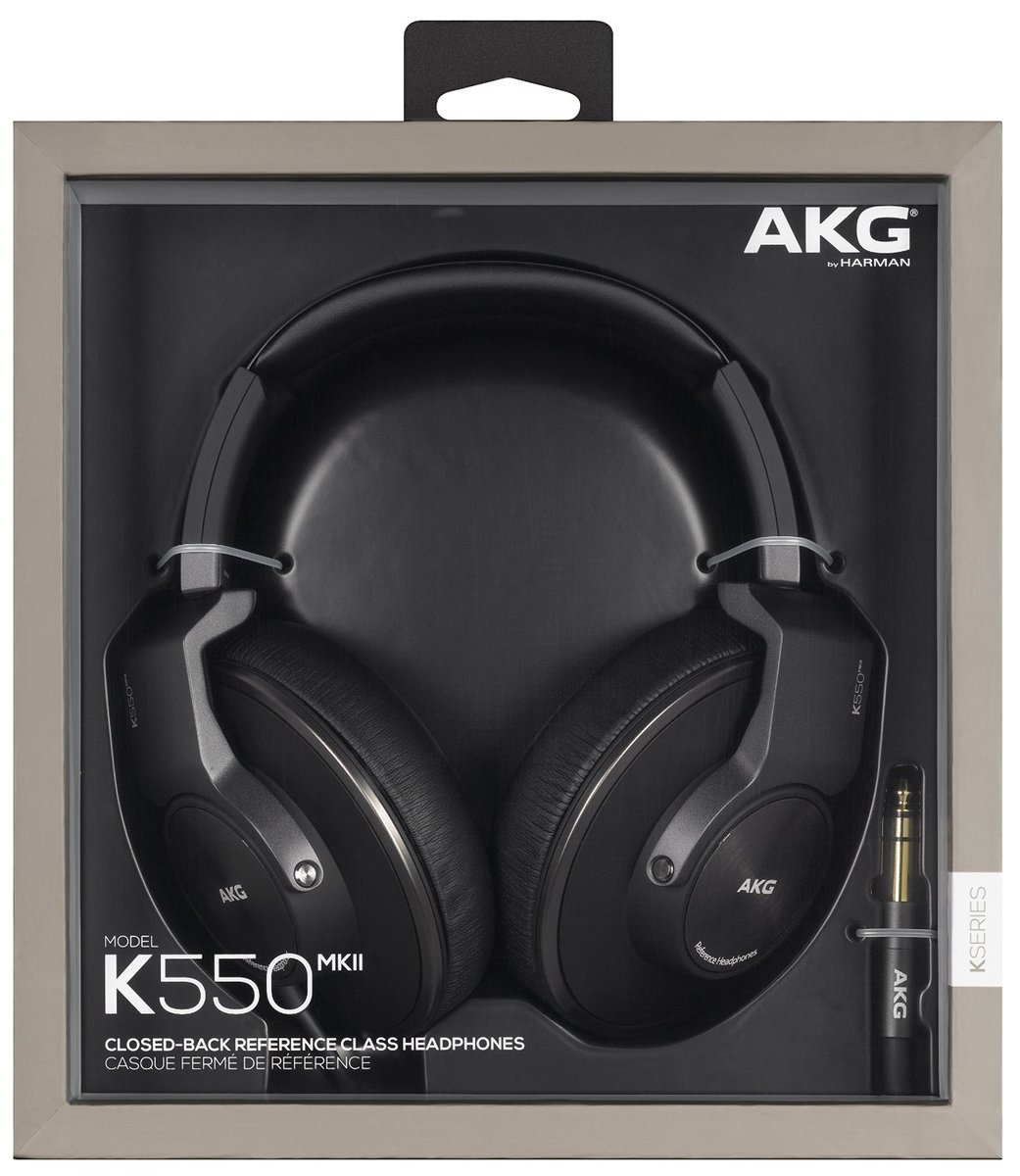 K550 MKII Premium Foldable Closed Back Over-Ear Headphones - Black