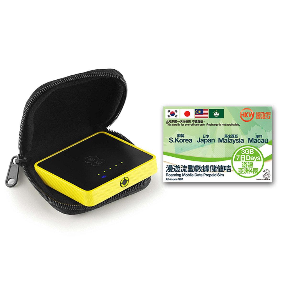 HKWALKER Osprey 2 Mini Wifi蛋 + 7天3GB prepaid sim亞洲漫遊數據儲值咭 (expiry date:31-12-2017)