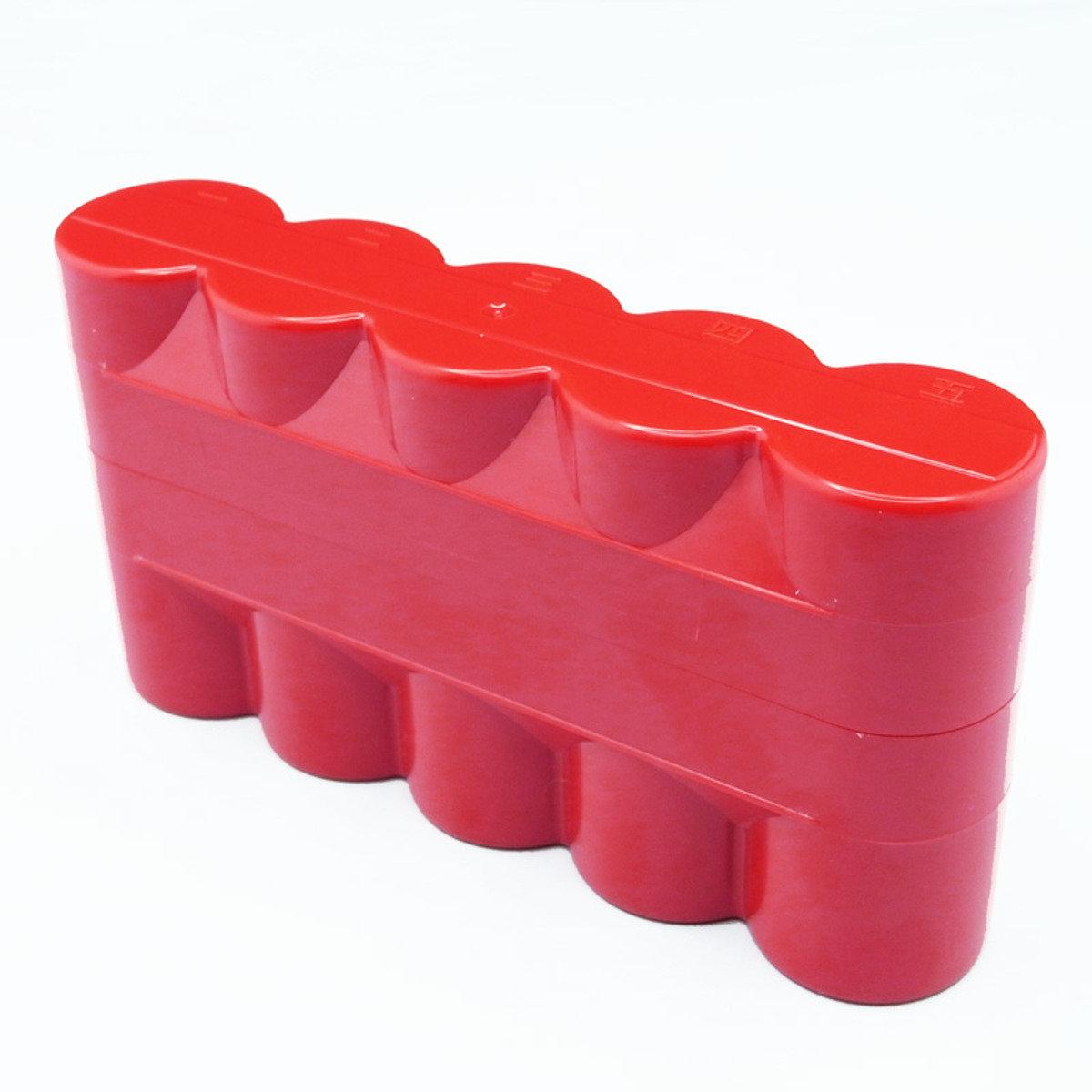 菲林盒 120 5筒裝 (紅色)