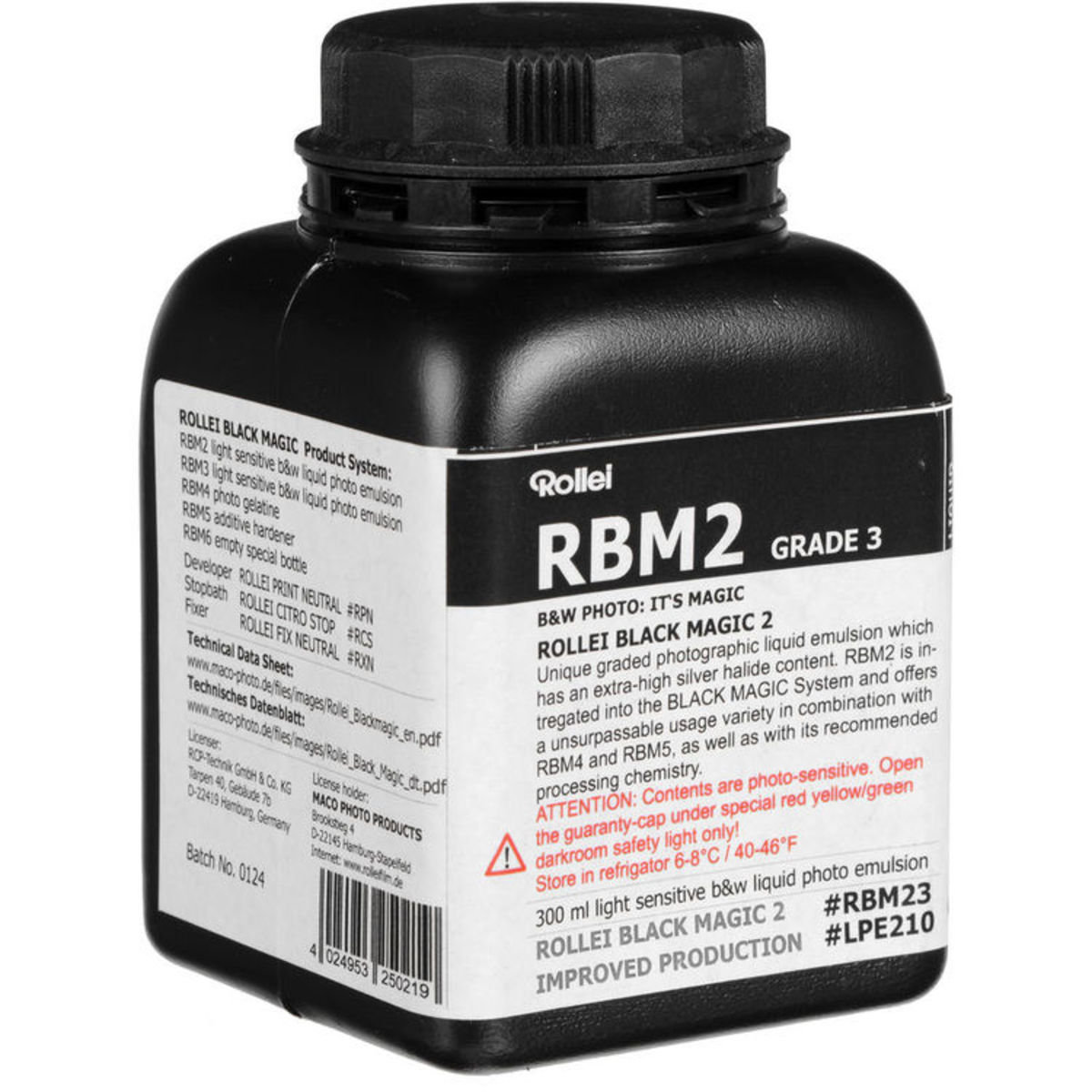 RBM Black Magic B&W Liquid Emulsion GRADE3 (Normal/Hard)