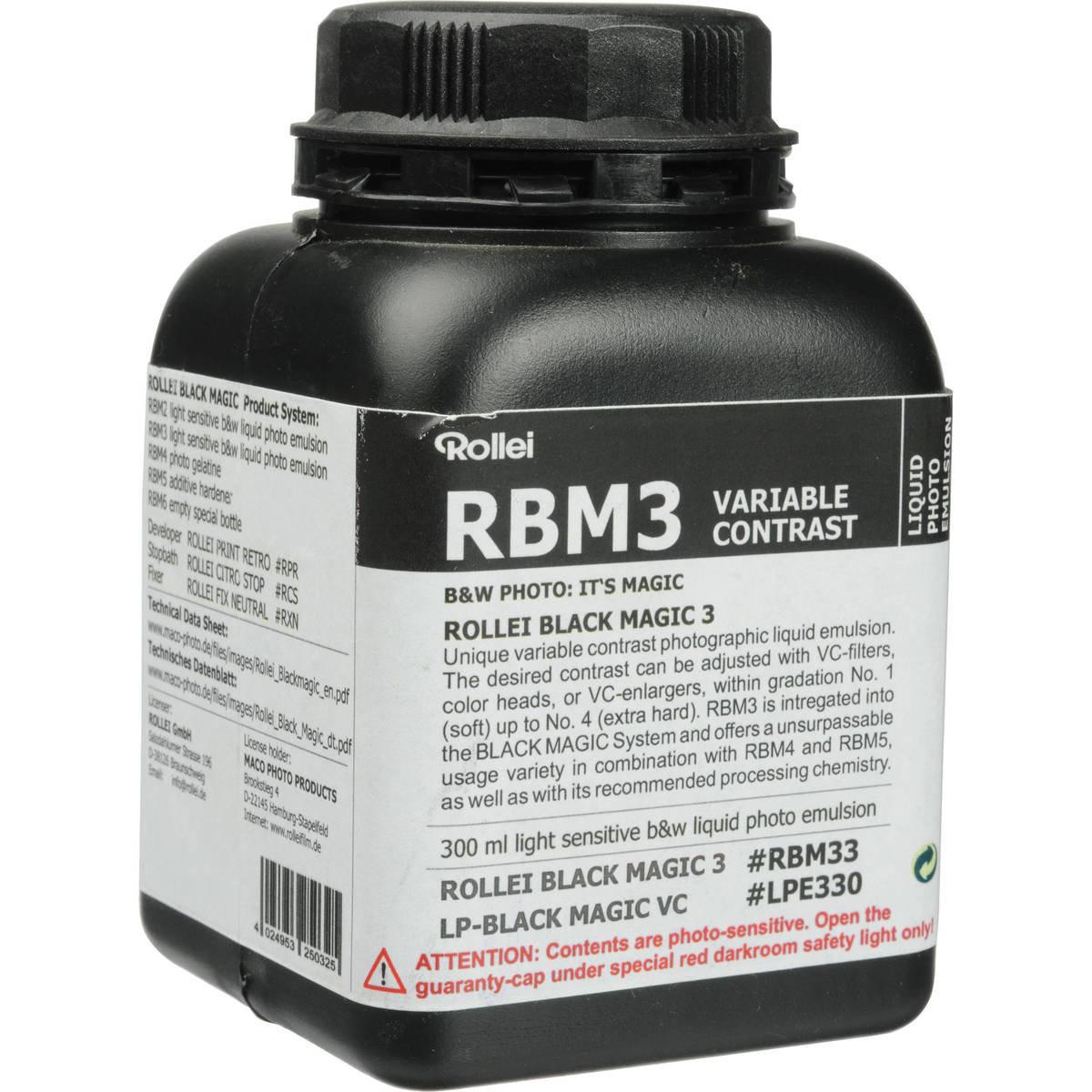 RBM Black Magic B&W Liquid Emulsion Variable Contrast