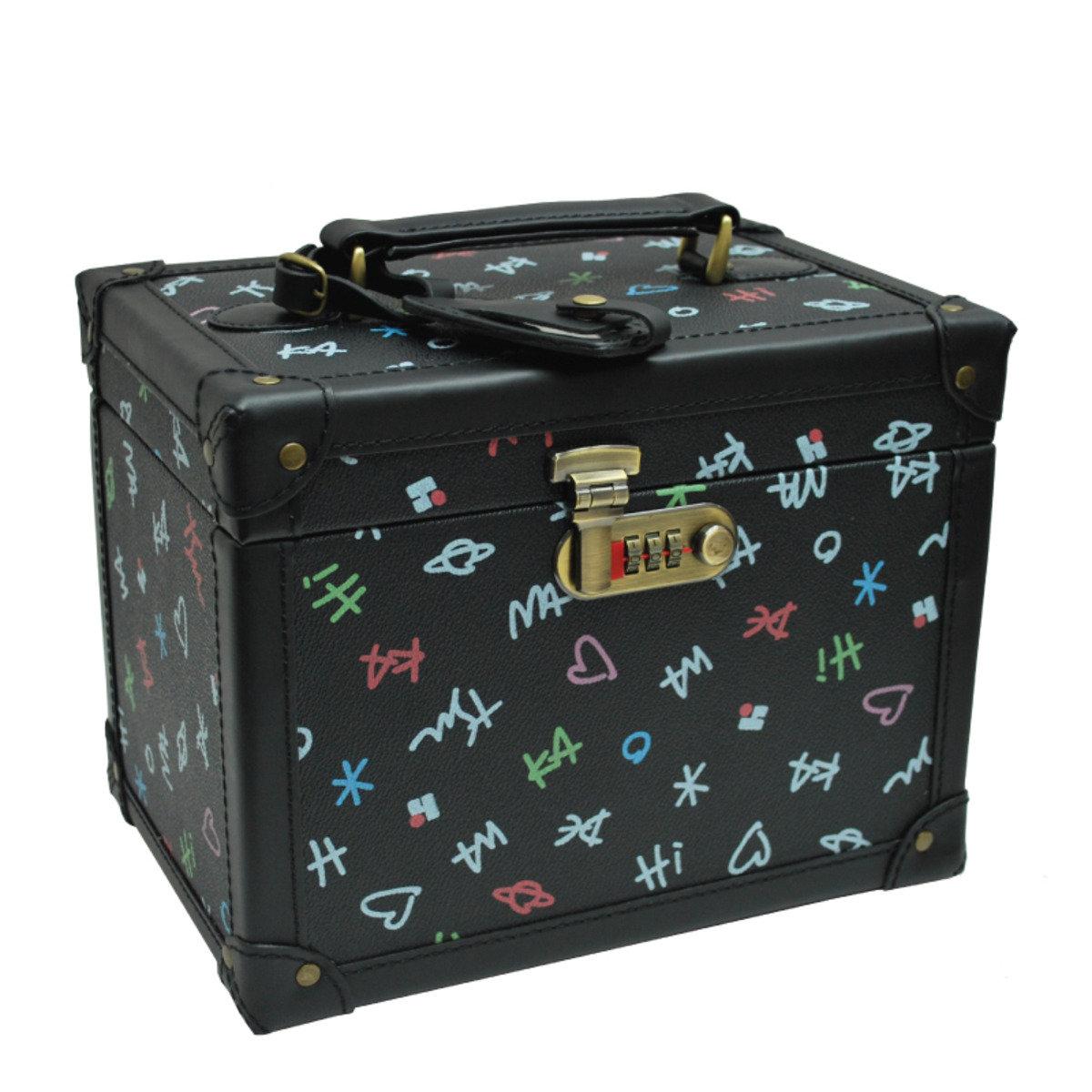 Classic Black 系列 - 10吋古典皮革化妝箱