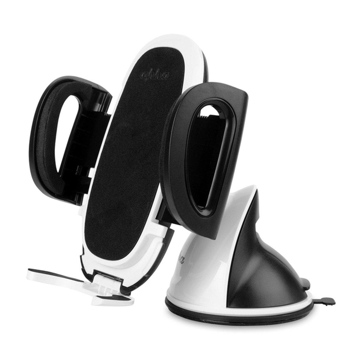 汽車擋風玻璃手機固定支架 (可360度靈活調較)(白)