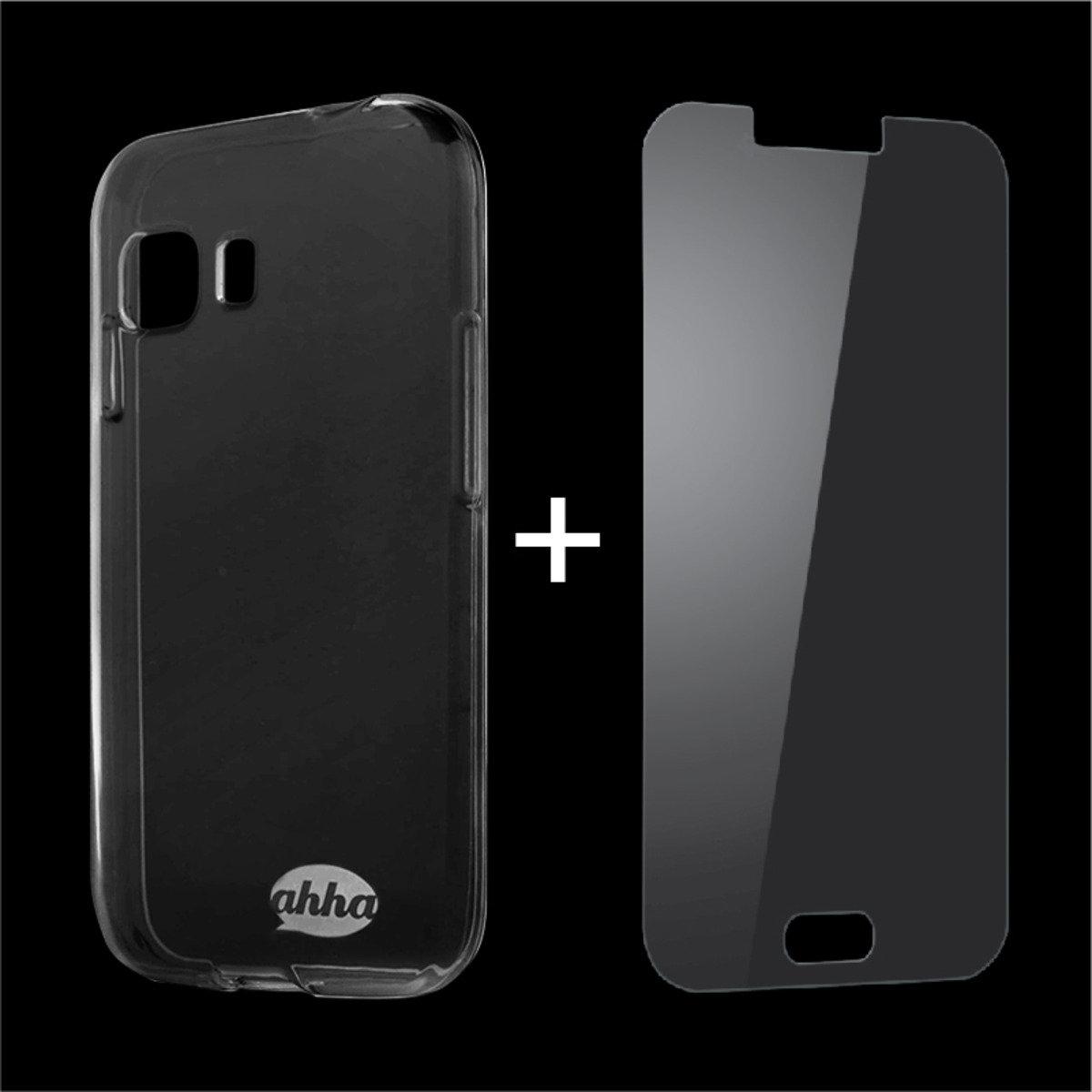 Samsung Galaxy Young 2 Duos 手機保護殼 及 鋼化玻璃膜 套裝 (透明)
