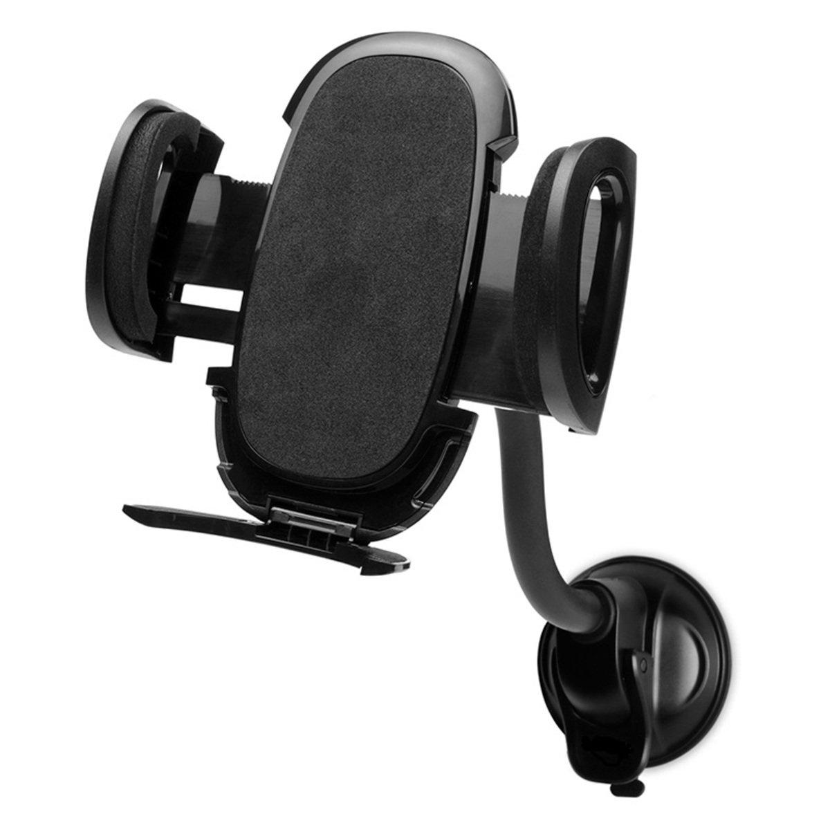 汽車擋風玻璃手機固定支架 (可上下活動調較) (黑)