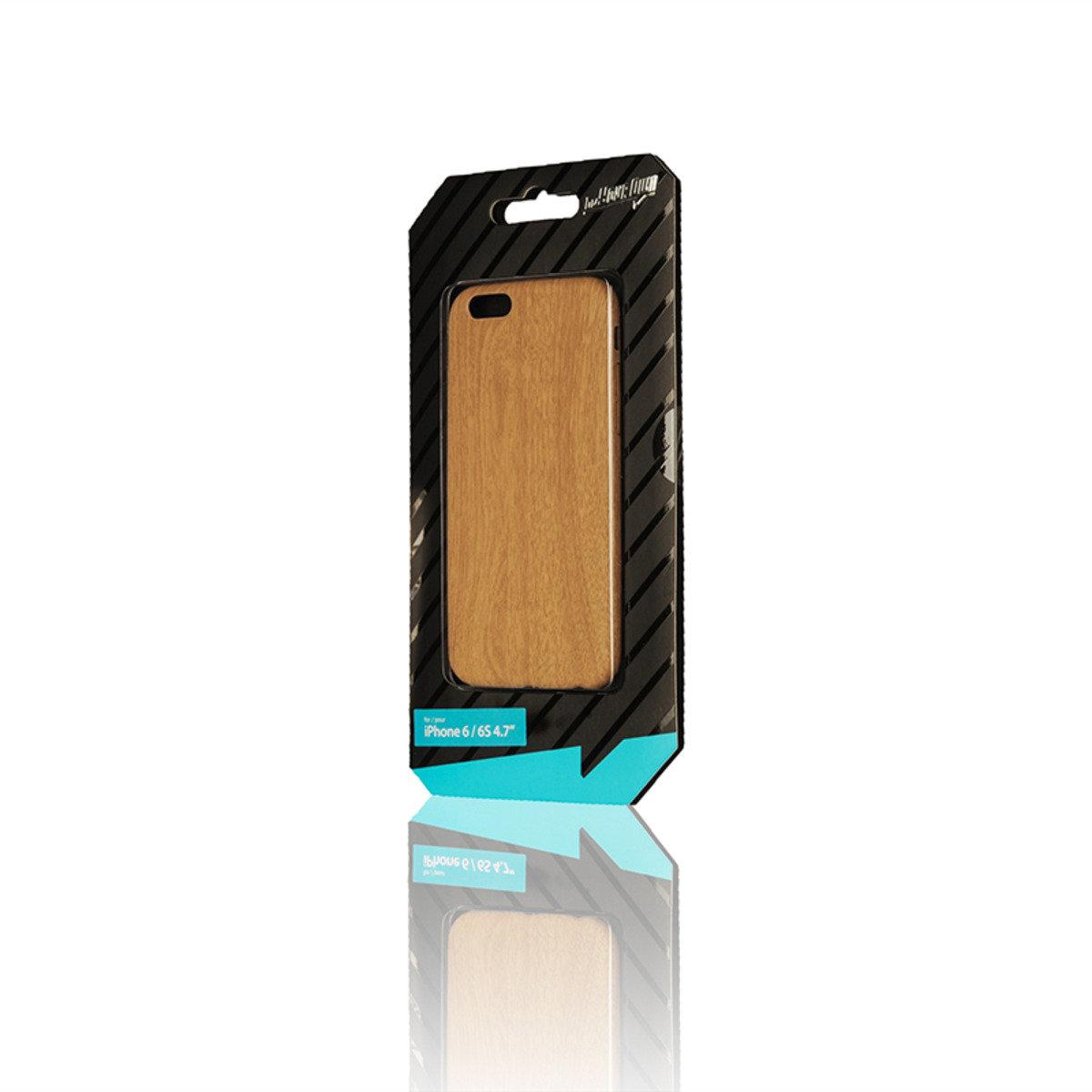 IPHONE 6,6S 木紋超薄軟殼保護套