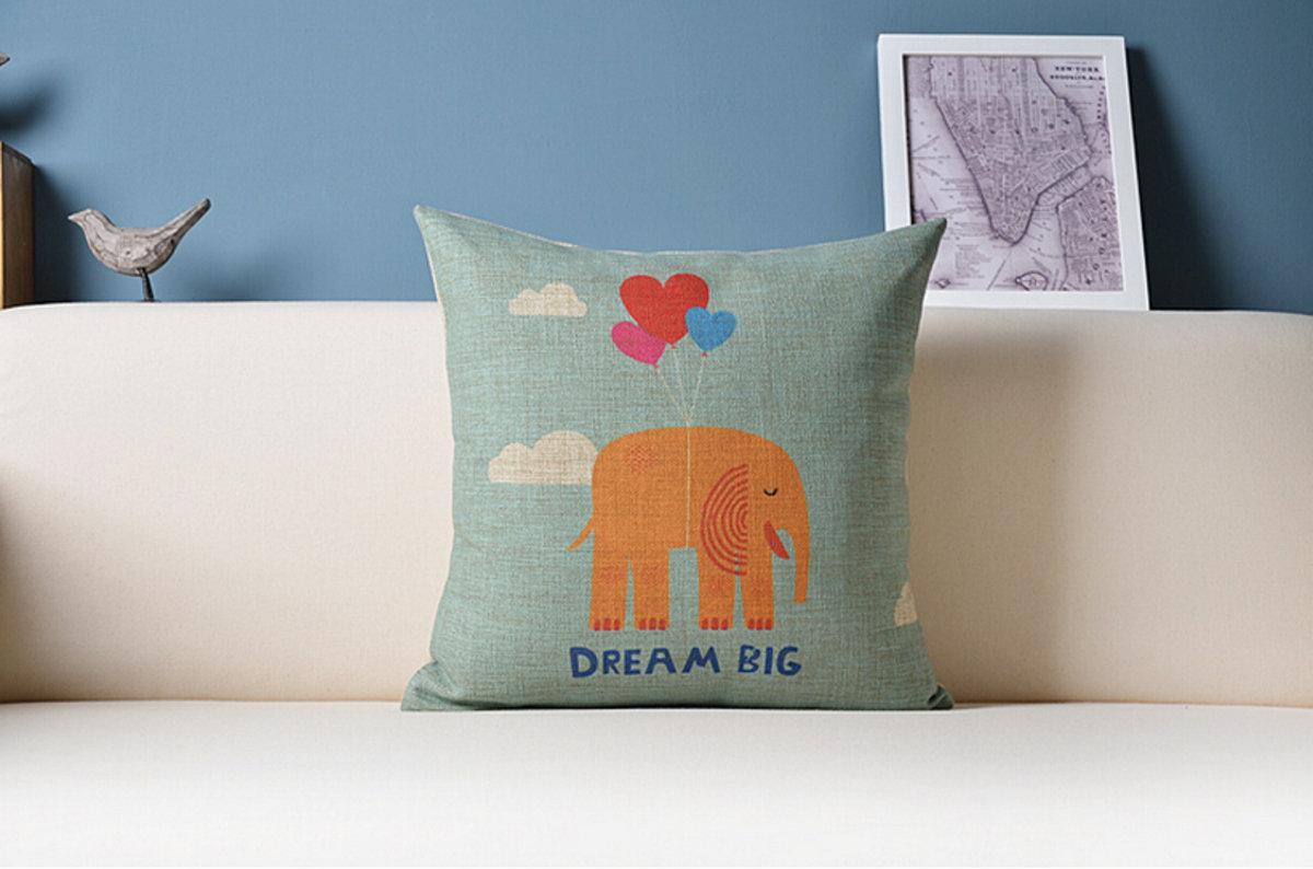 可愛大象抱枕 - D款( 大象柑色)