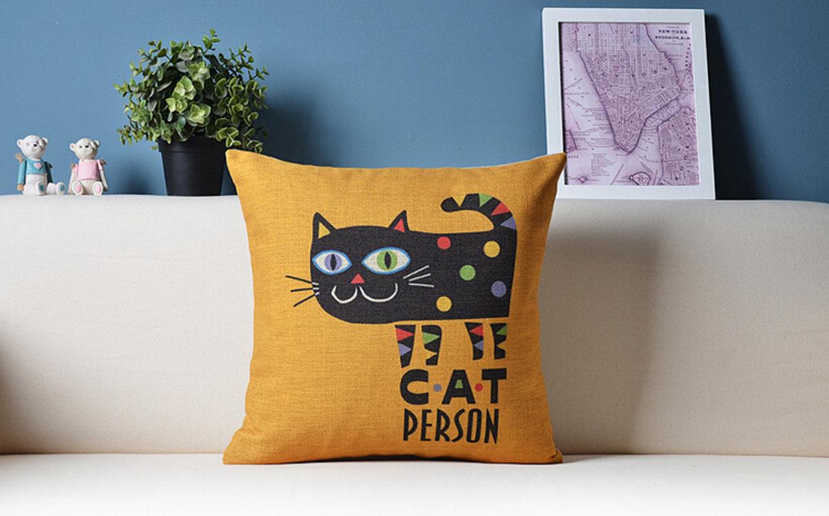 可愛貓咪卡通抱枕 - C款(貓咪)