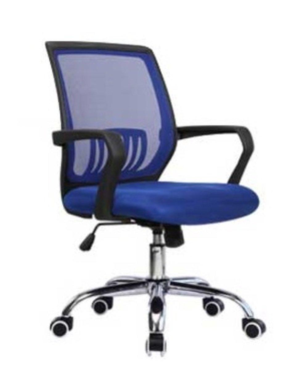 人體工學辦公椅-黑框(寶藍色)