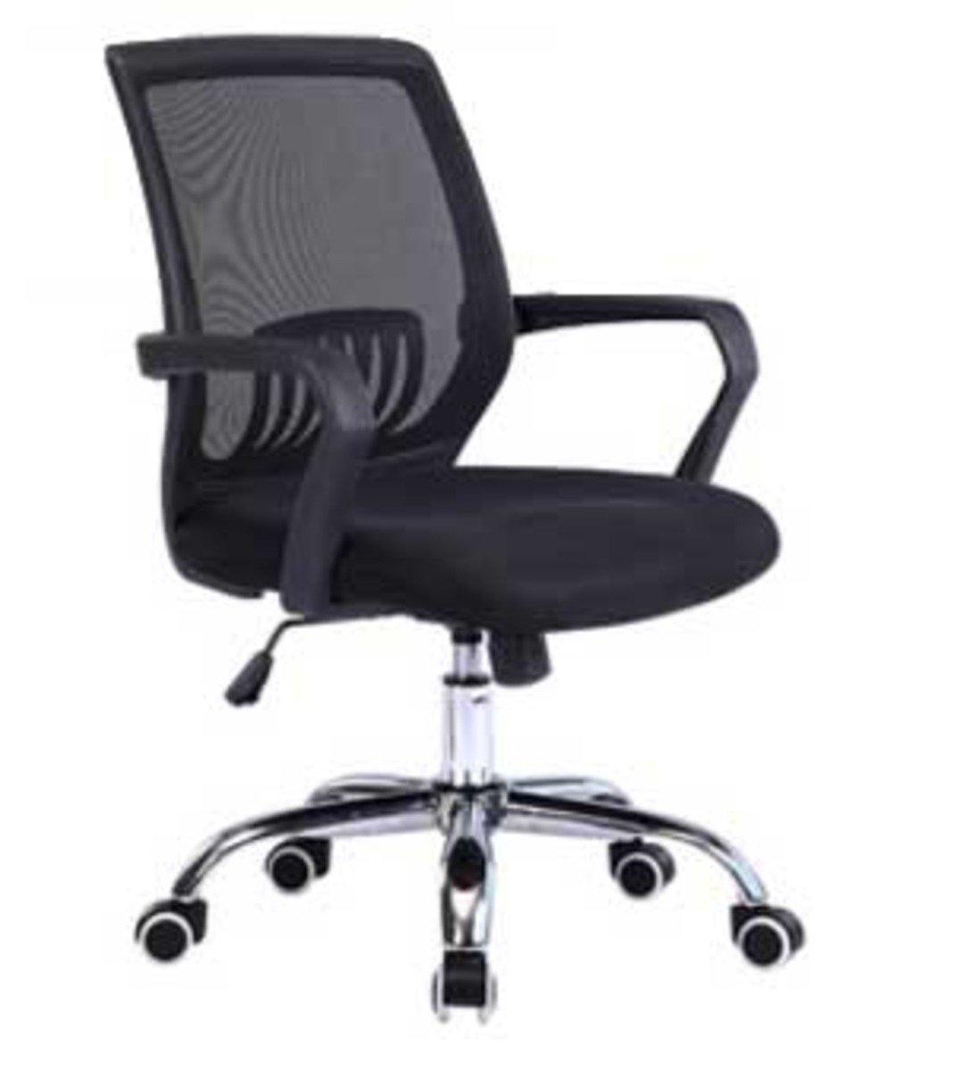 人體工學辦公椅-黑框(黑色)