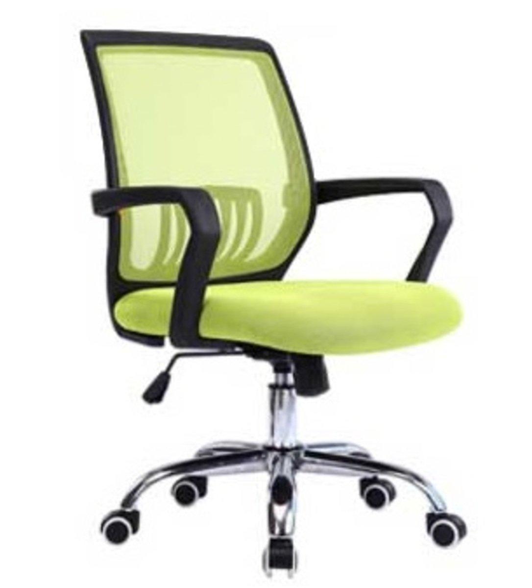 人體工學辦公椅-黑框(蘋果綠色)