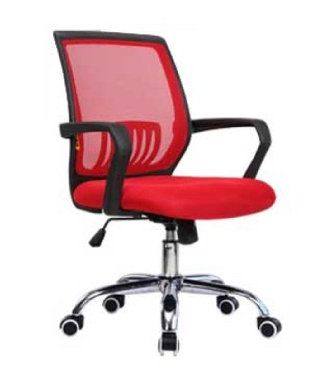 人體工學辦公椅-黑框(大紅色)