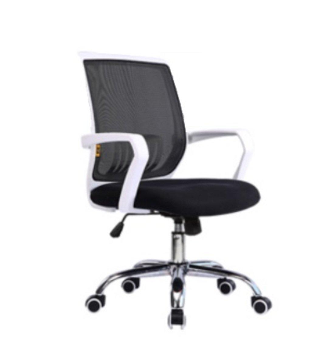 人體工學辦公椅-白框(黑色)