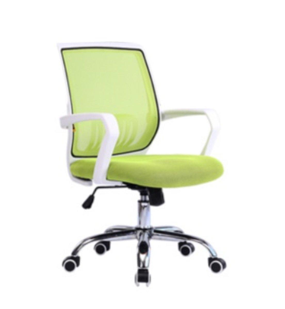 人體工學辦公椅-白框(蘋果綠色)