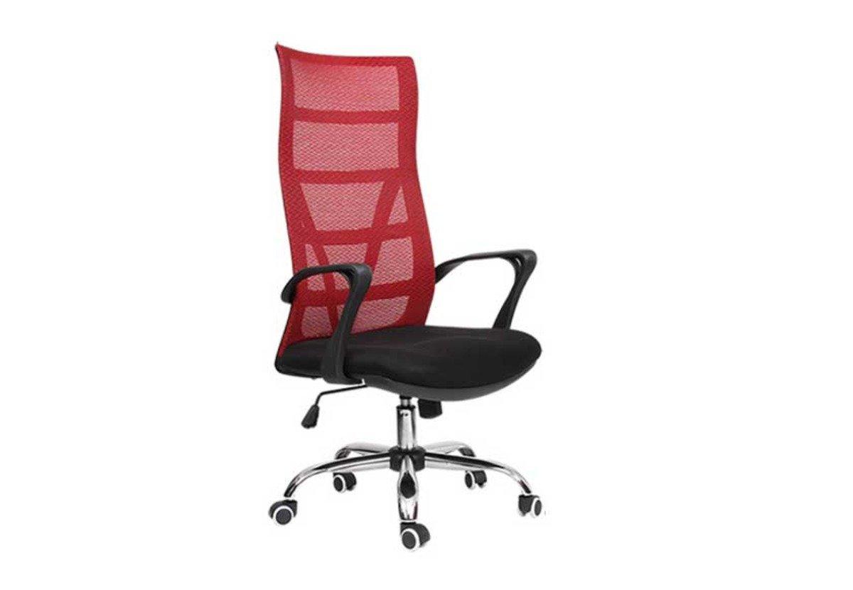 人體工學辦公椅-酒紅色