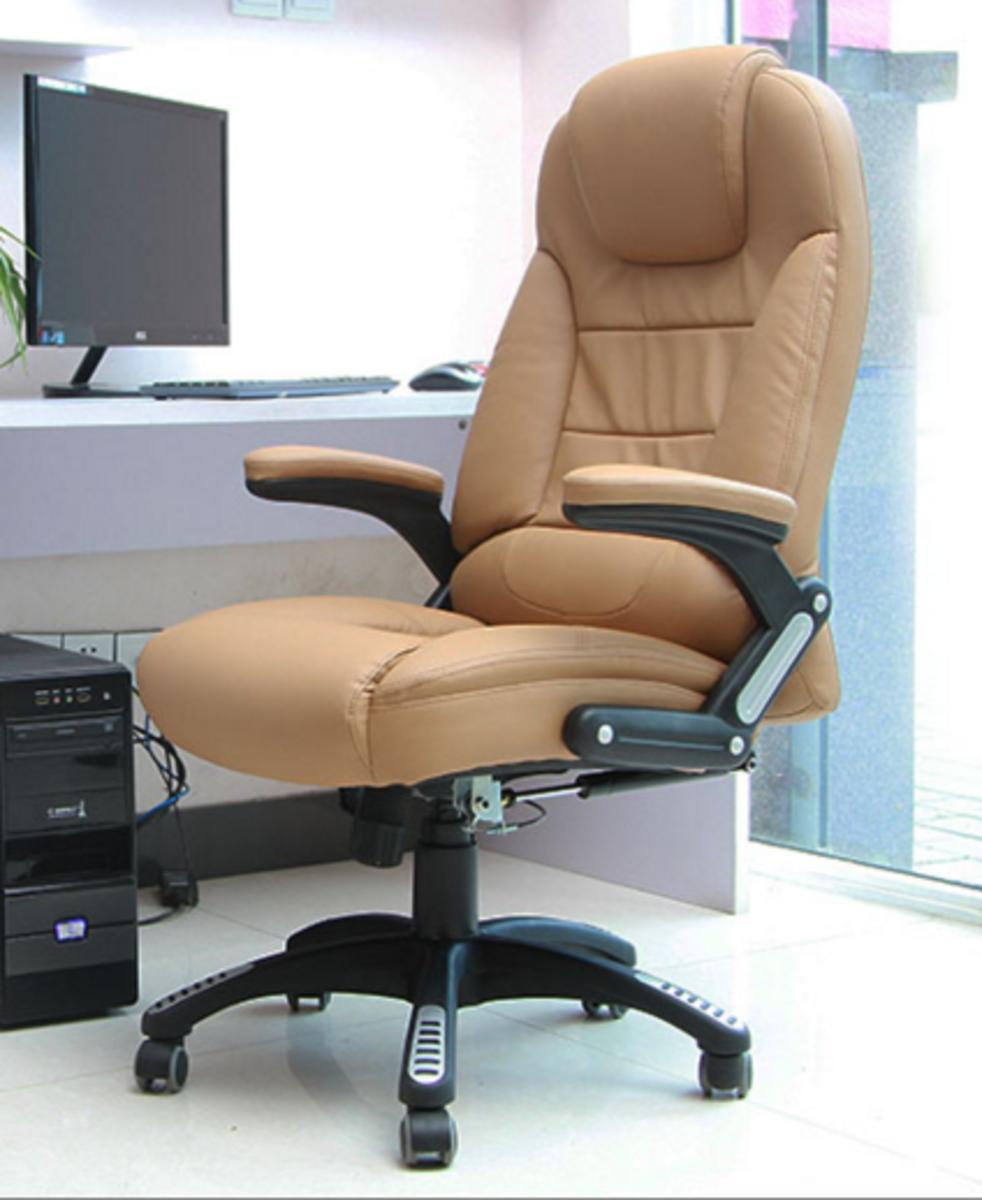 人體工學辦公椅-杏色