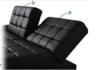 可調式梳化床連儲物腳踏(黑色)