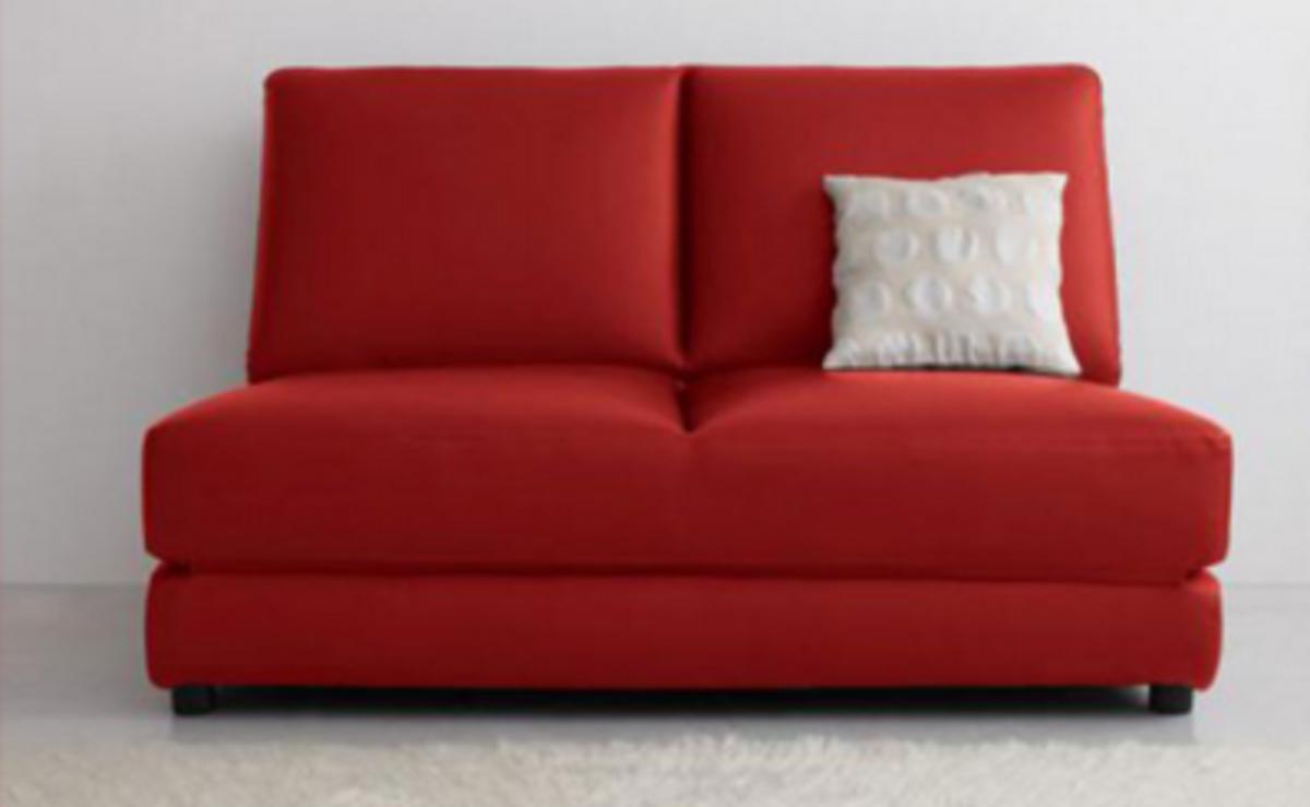 蝸居折疊仿皮梳化床(紅色)