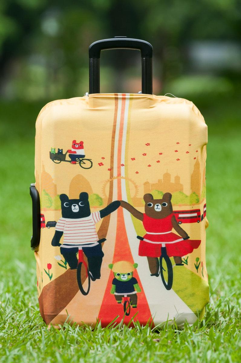 熊仔卡通行李箱防塵保護套