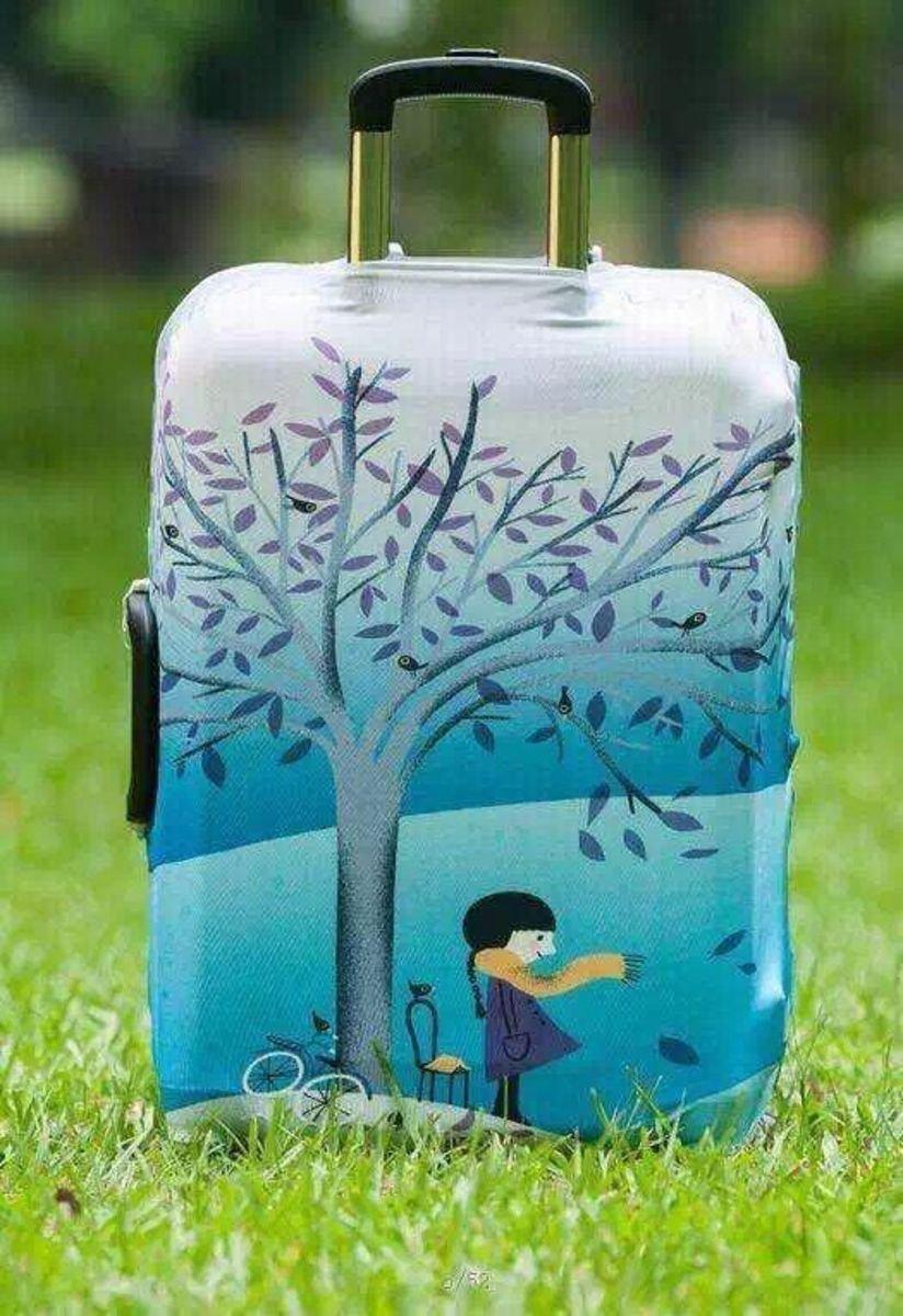 樹葉卡通行李箱防塵保護套
