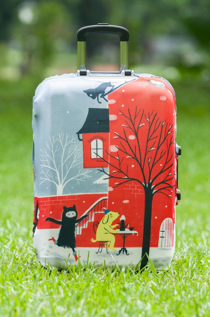 冬日卡通行李箱防塵保護套
