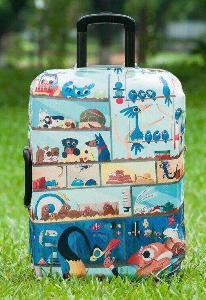動物卡通行李箱防塵保護套