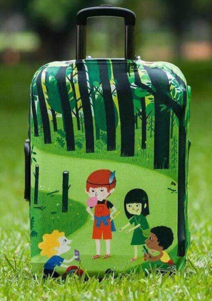 小孩卡通行李箱防塵保護套