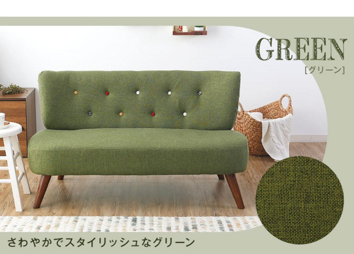 兩人位日式小梳化(綠色)