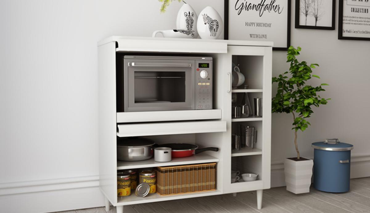 多用途餐廚櫃(白色)