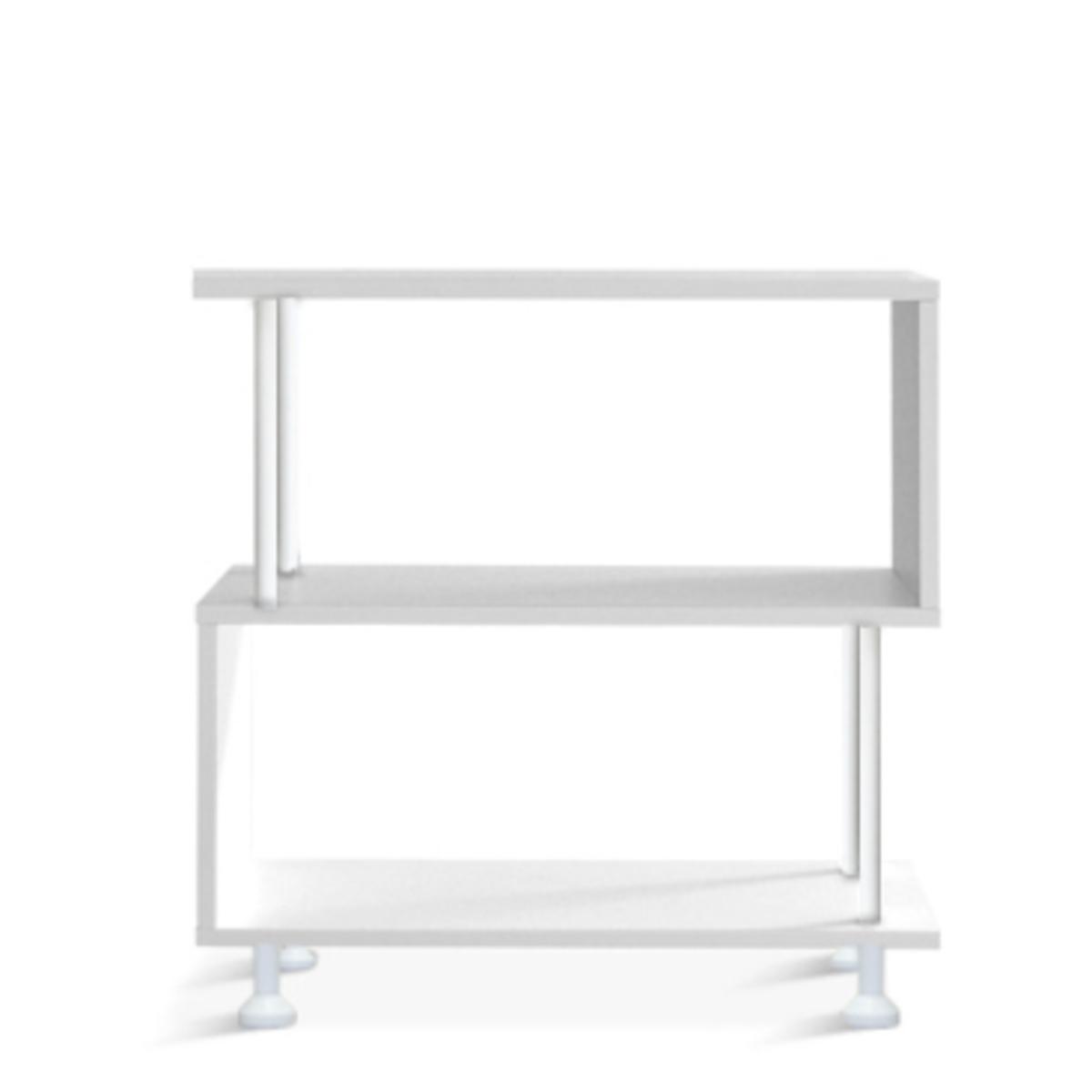 白色置物架 隔廳櫃(兩層)
