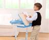 兒童學習升降桌連椅子(藍色)