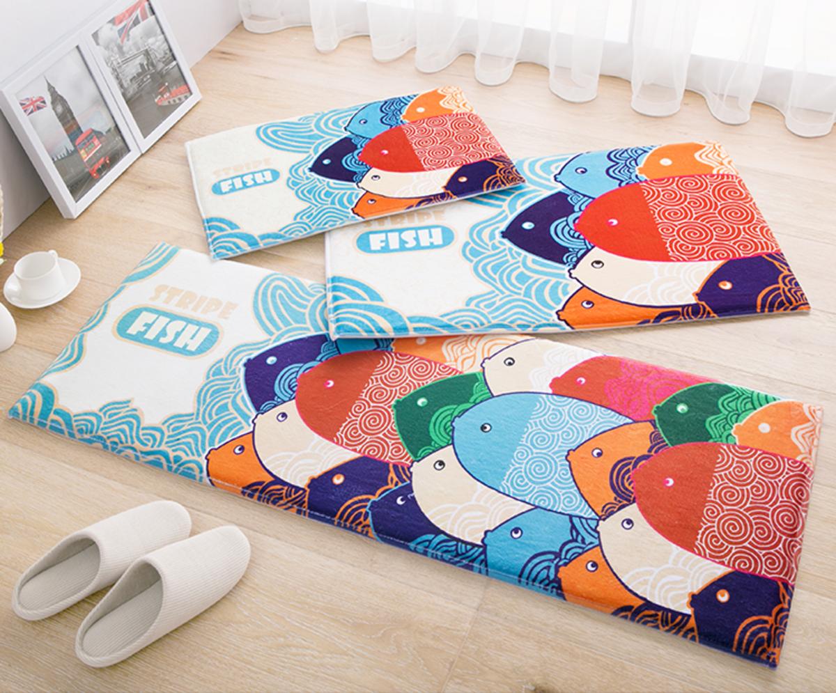 高級防滑地墊 - 可愛魚魚(S)