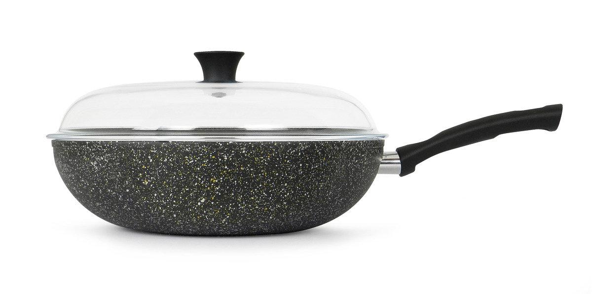 意諾 32 cm 高身炒鍋連高級耐熱玻璃蓋