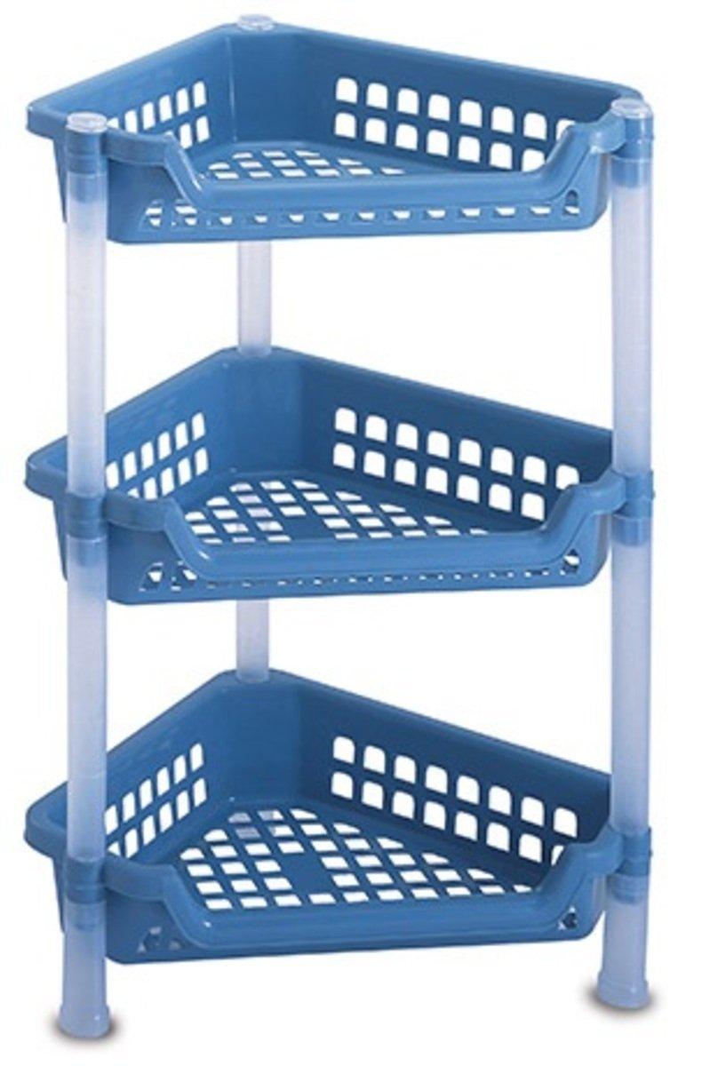 三層三角組合架 (藍色/灰色)(顏色隨機派送)