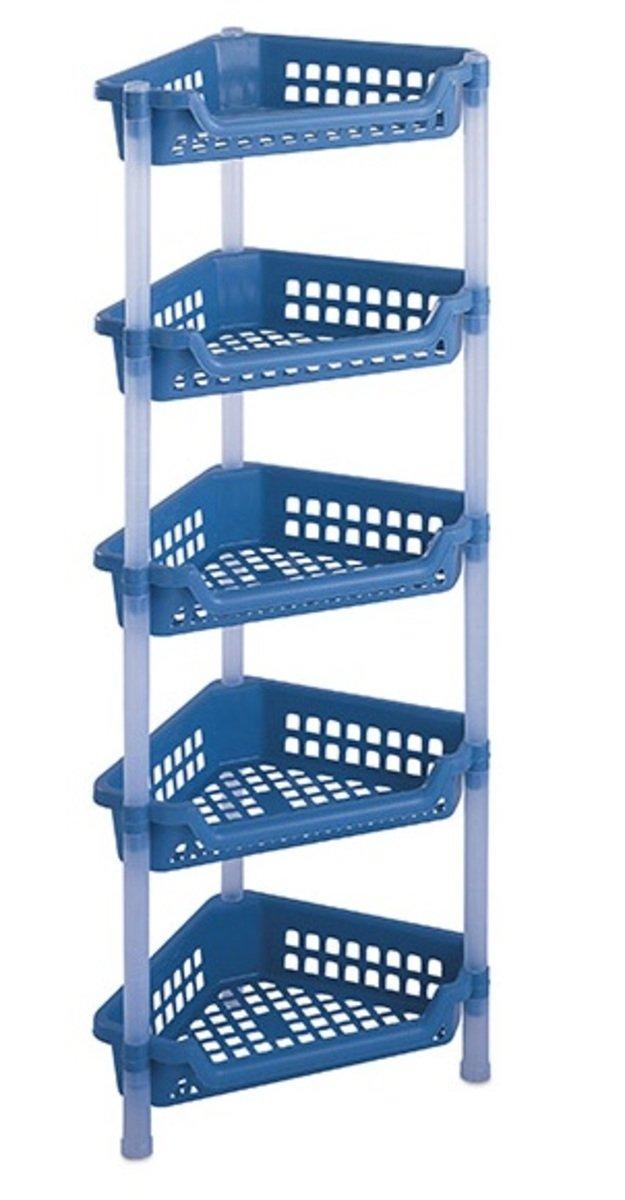 五層三角組合架 (藍色/灰色)(顏色隨機派送)