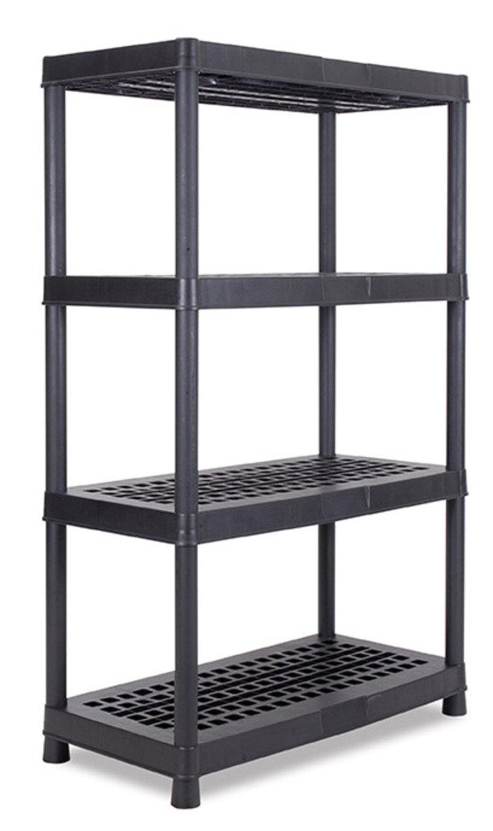 四層大型多用途組合架 (灰色/黑色)(顏色隨機派送)