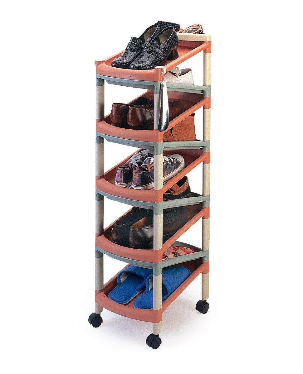 九層雙面單對鞋架 (黑色/彩色)(顏色隨機派送)