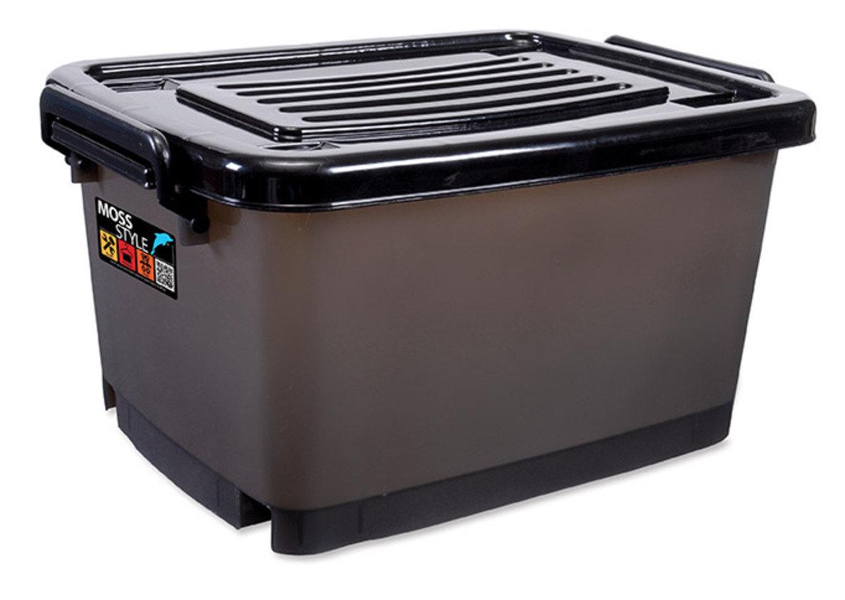 滑輪儲物箱連蓋(黑色)