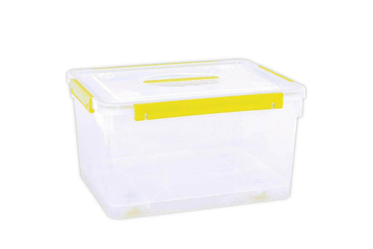 手提密封儲物箱連輪 (紅色/藍色/黃色/青色)(顏色隨機派送)