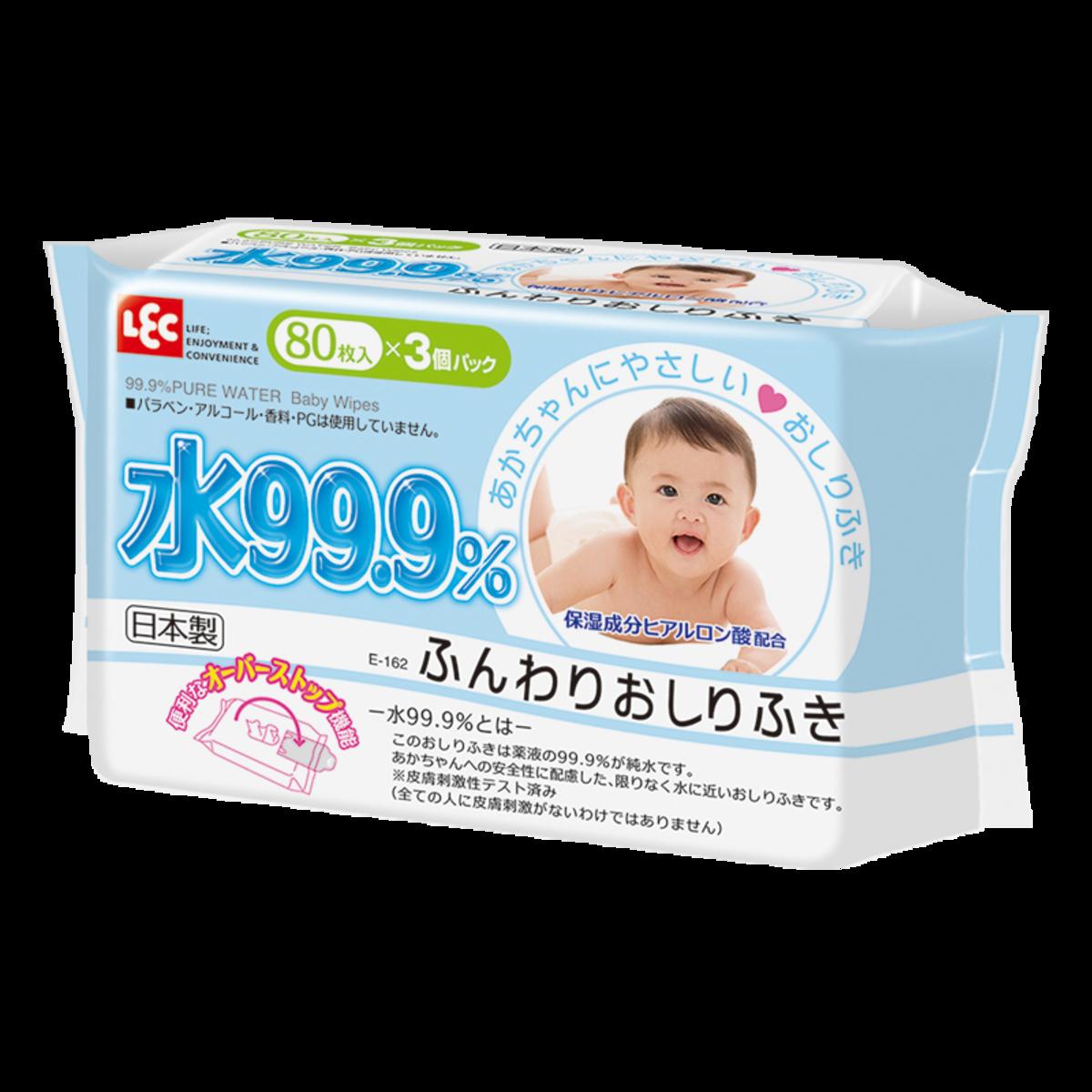 水99.9%幼兒濕抹巾 (日式) 80片 x 3包