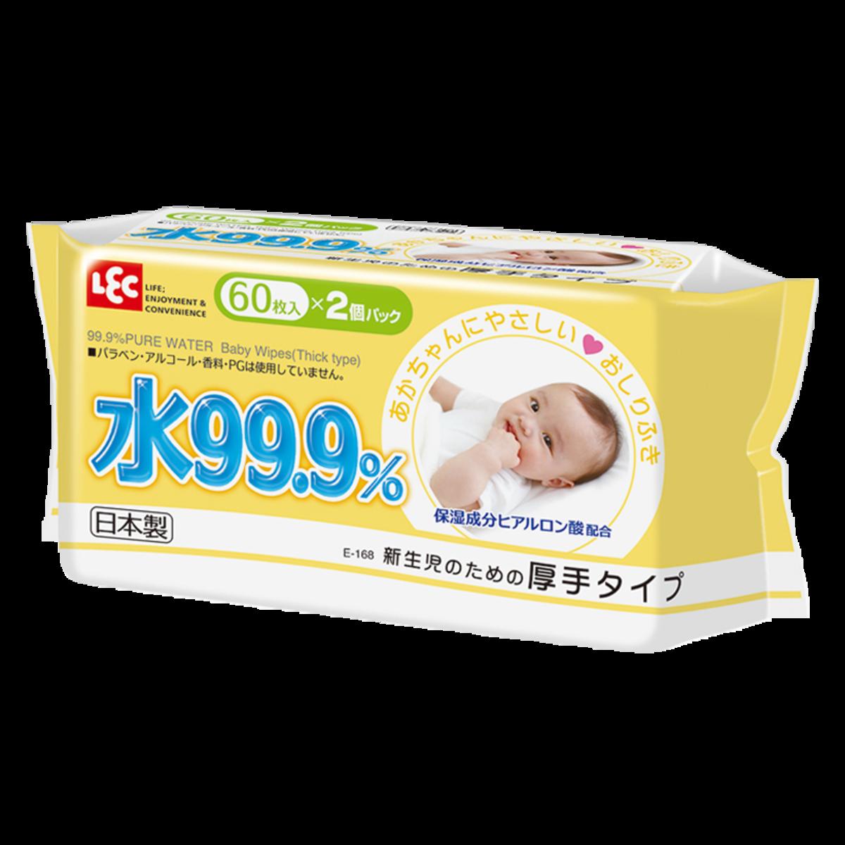 幼兒即棄濕抹巾 (厚身) 60片 x 2包