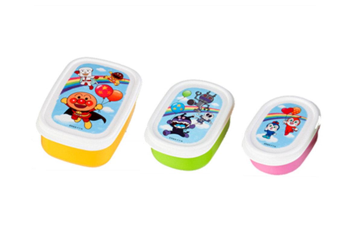 「麵包超人」三個裝食物盒