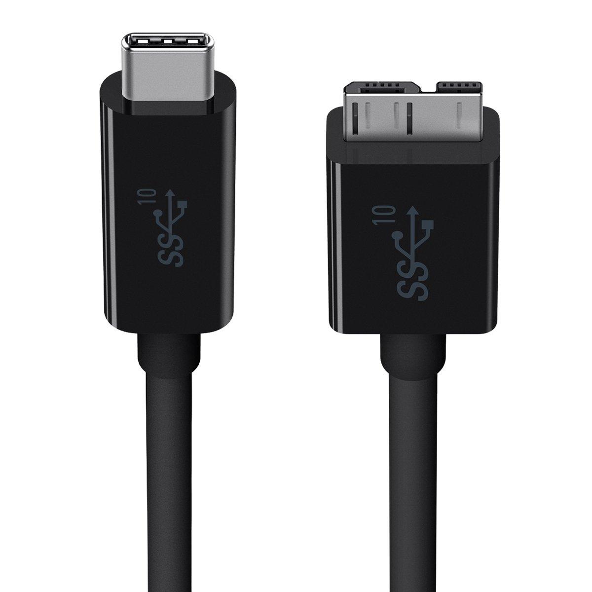 USB 3.1 USB-C 轉 Micro-B 線纜 (USBIF 認證)