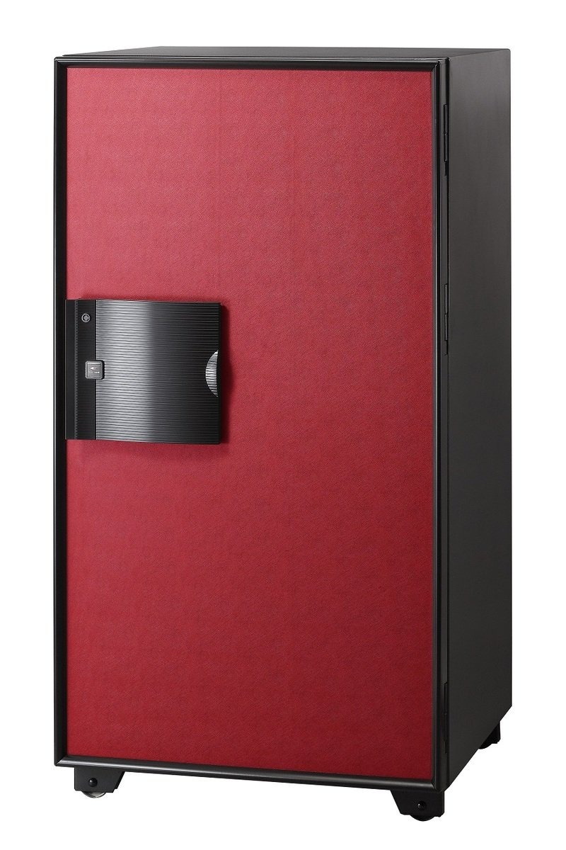 EG-130-BR-(FP) 電子密碼鎖 + 指紋 (黑/紅色)