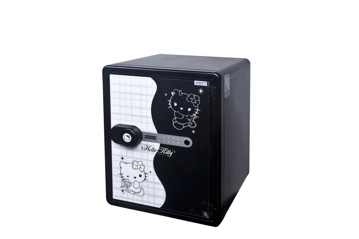KT-031DB Hello Kitty 防火金庫夾萬電子密碼鎖 (黑色)