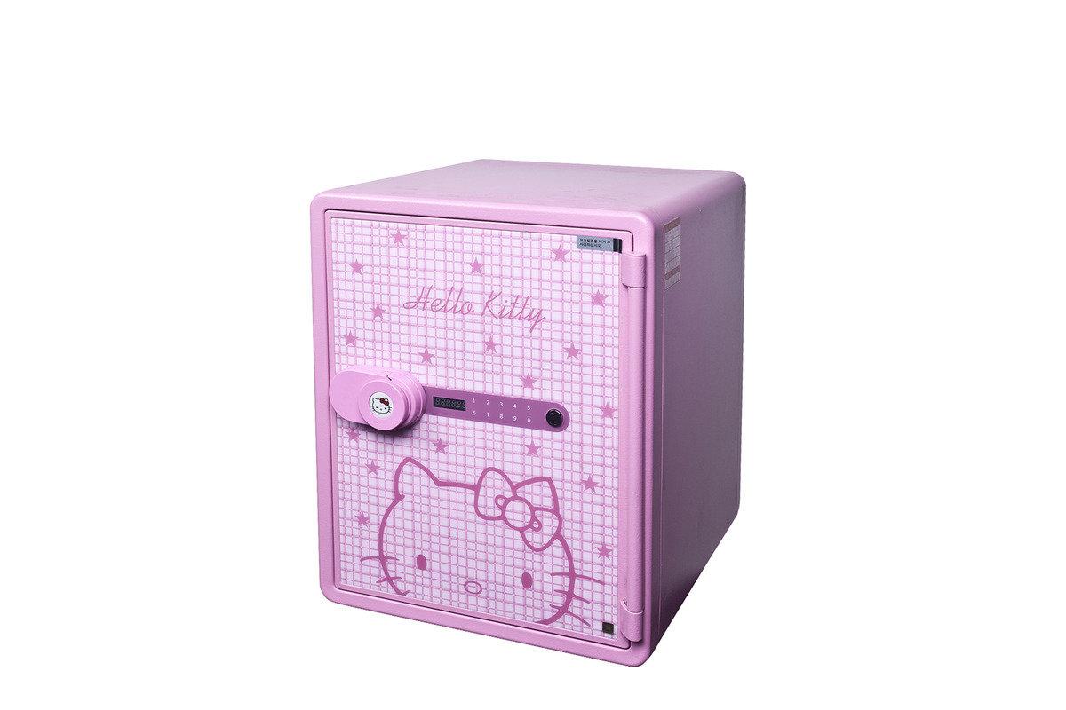KT-031DP Hello Kitty 防火金庫夾萬電子密碼鎖 (粉紅色)