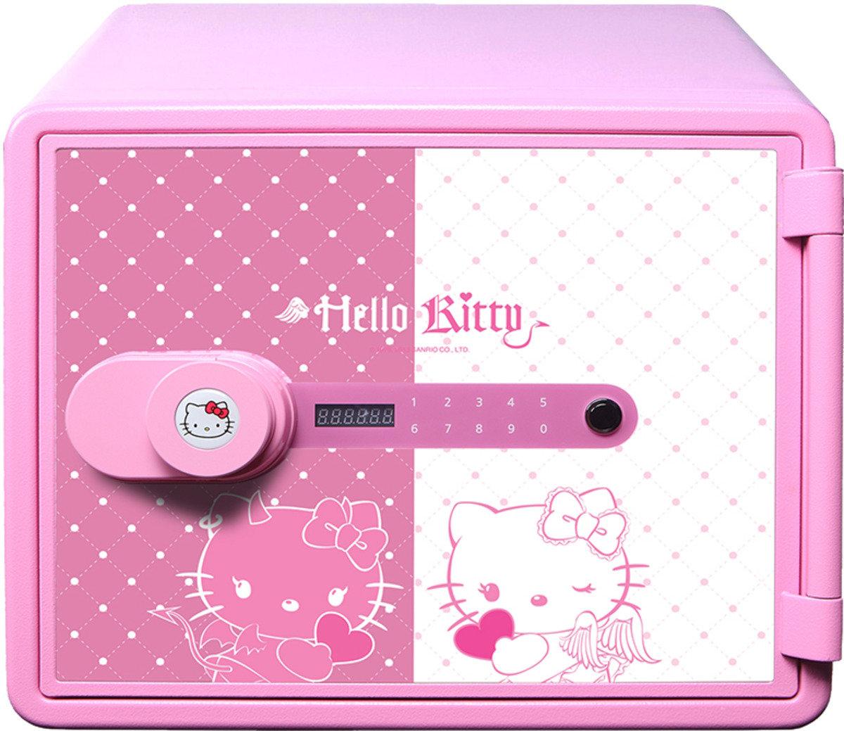 KT-M020WP Hello Kitty 防火金庫夾萬電子密碼鎖 (粉紅色)