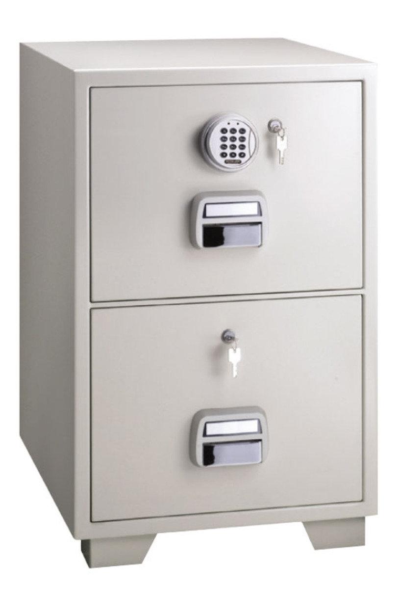 SF680-2EKK 電子密碼鎖 + 鎖匙 防火文件櫃 (2 抽屜)