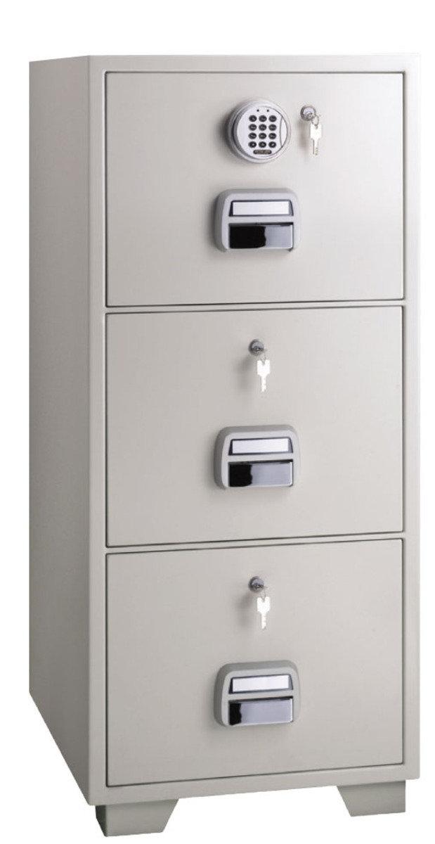 SF680-3EKK 電子密碼鎖 + 鎖匙 防火文件櫃 (3 抽屜)
